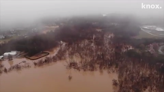 East Tennessee flood: Incredible drone footage of Knox water levels