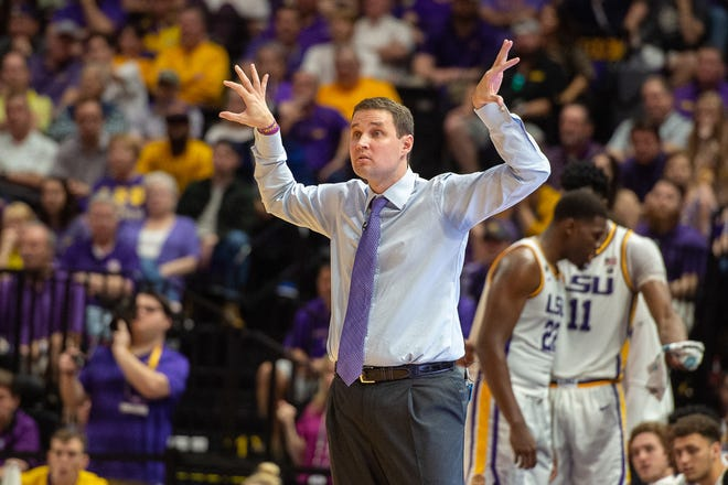 Tigers Head Coach Will Wade as the LSU Fighting Tigers take on the Tennessee Volunteers at the Pete Marovich Assembly Center. Saturday, Feb. 23, 2019.