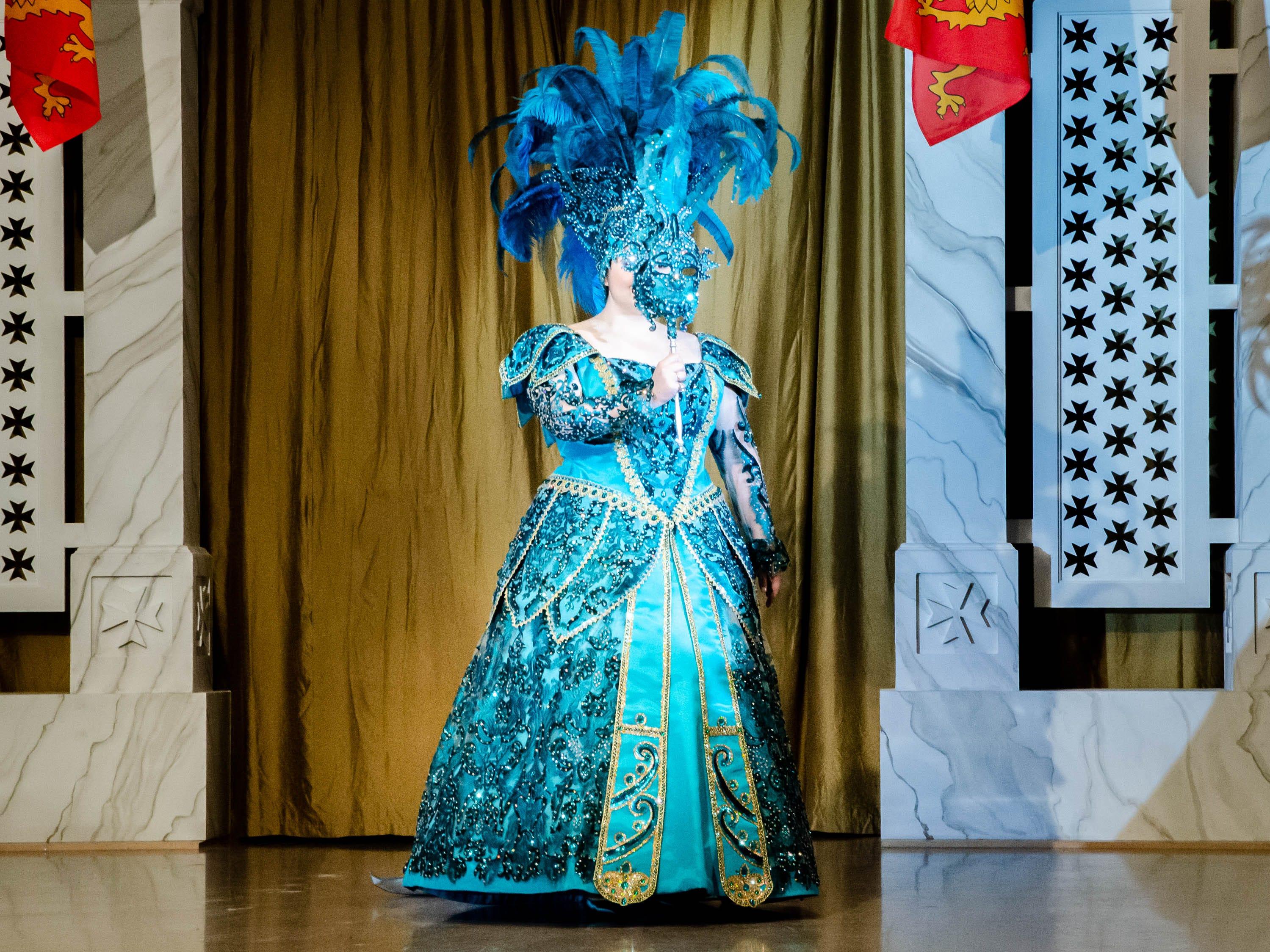 77th Annual Krew de Troubadours Mardi Gras Ball. Olivia Louise of the House of Falterman.