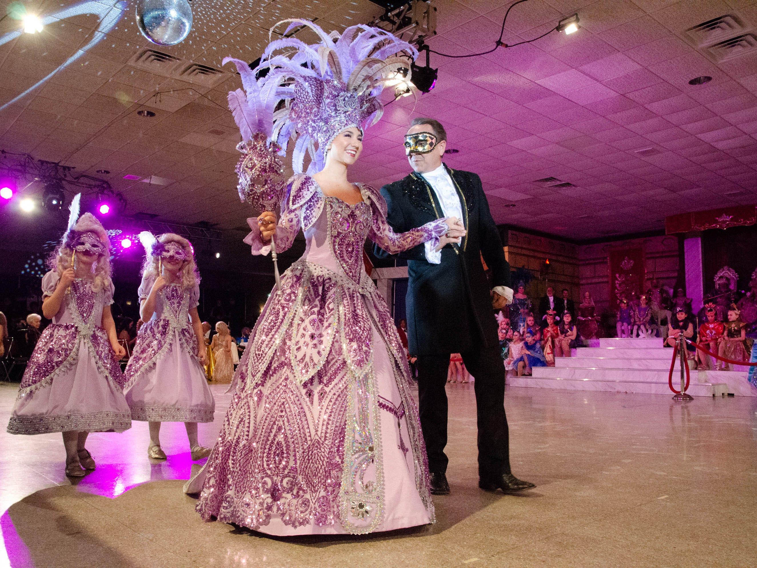 77th Annual Krew de Troubadours Mardi Gras Ball. Katherine Nicole of the House of Crochet (The Winged Pegasus).