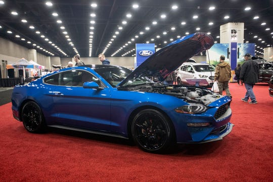 A 2019 Ford Mustang was one of the popular vehicles showcased at the Louisville Auto Show. 2/23/19