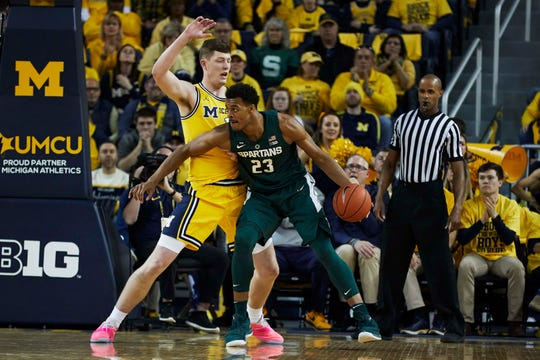 Xavier Tillman's likely battle with Jon Teske is one of the anticipated matchups in this MSU-Michigan game.