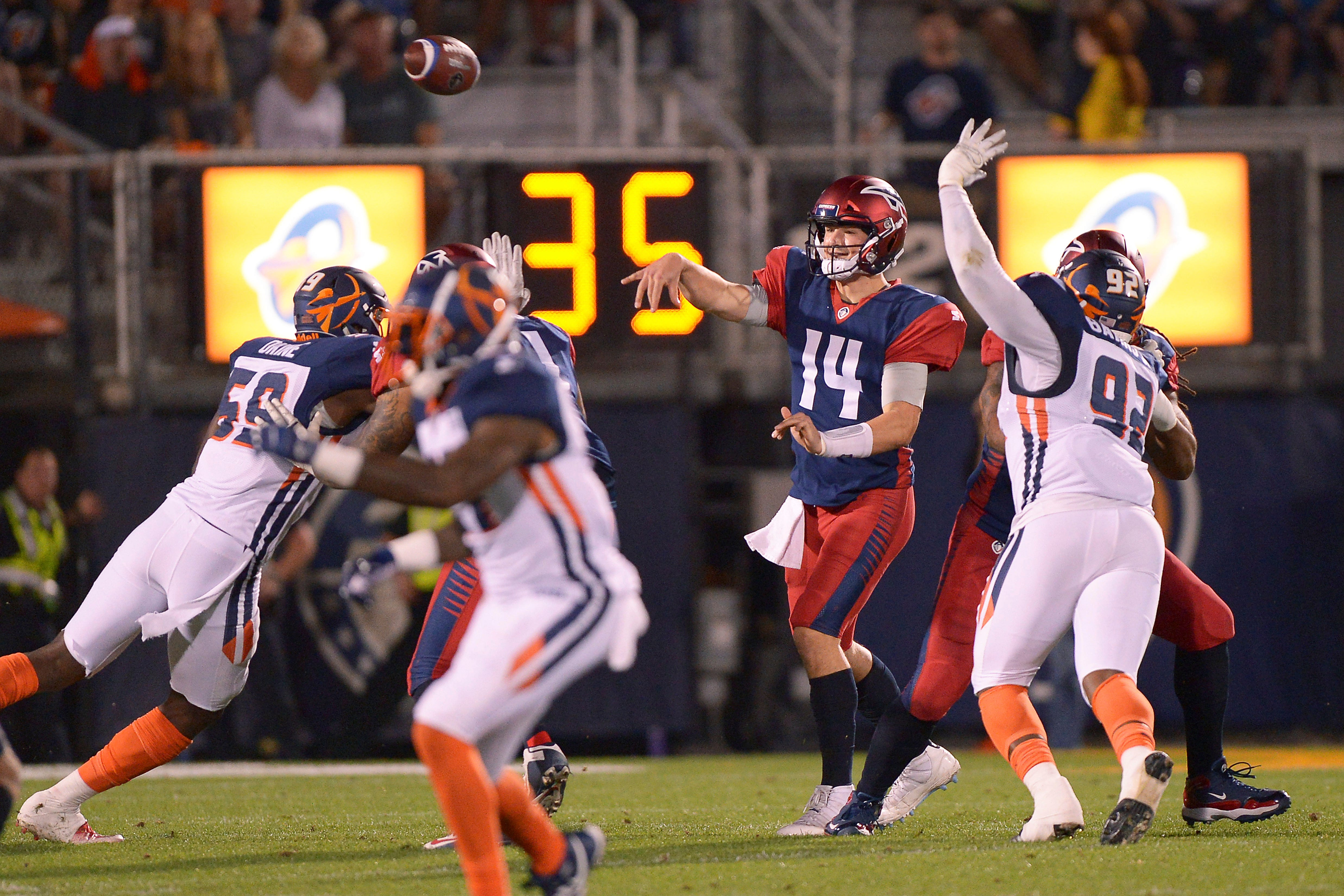 AAF: Christian Hackenberg benched in Memphis Express game