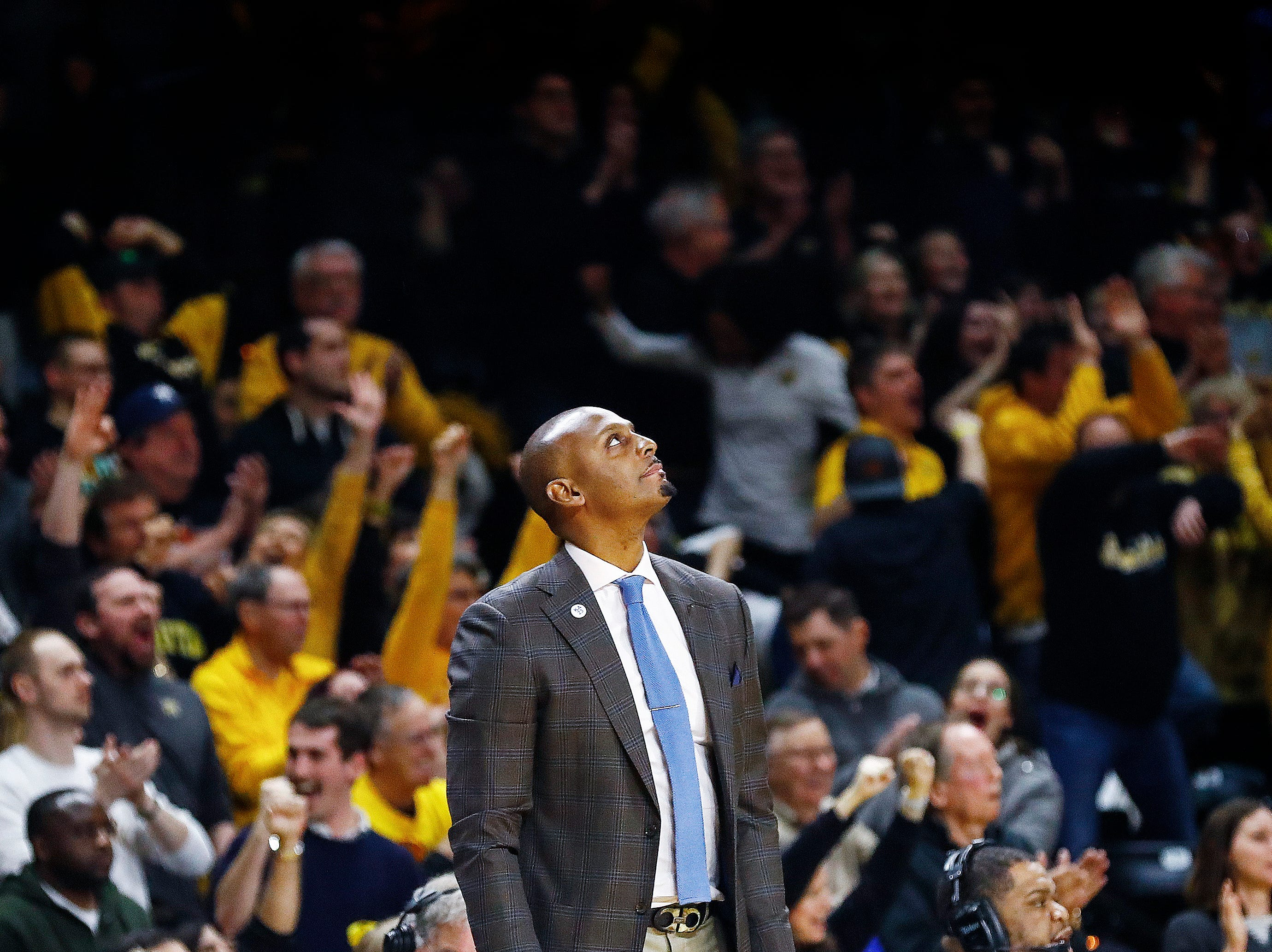Memphis head coach Penny Hardaway during action against Wichita State in Wichita, Kansas, Saturday, February 23, 2019.
