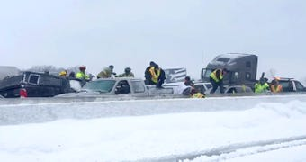 Winnebago County Sheriff's Office released  more video showing rescue efforts during a 119 car pile up on I-41