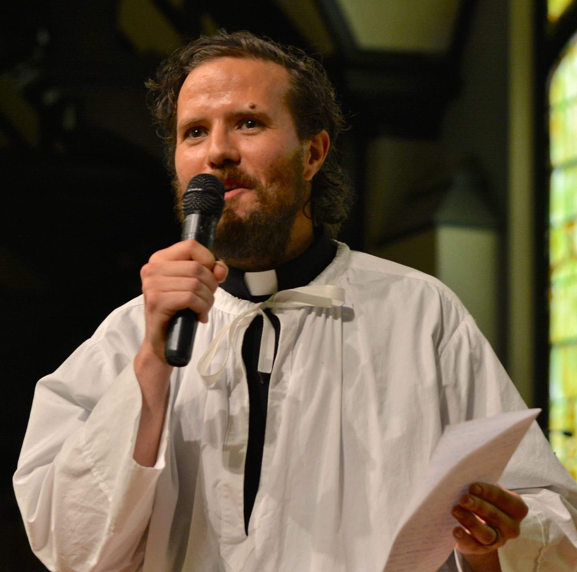 Kenosha Lutheran church pastor Jonathan Barker supports the Green New Deal with a hunger strike