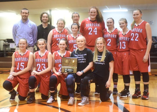 2019 1A Region 2 champion Norfork Lady Panthers