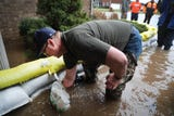 Murfreesboro resident thanks neighbors for their help in protecting their home from floods on Saturday, February  23.
