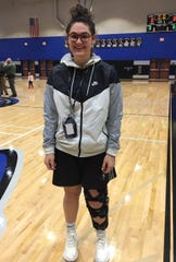 Nolensville High sophomore forward Zoe Piller tore the ACL in her left knee on Jan. 15 but remains a source of inspiration for the Lady Knights.
