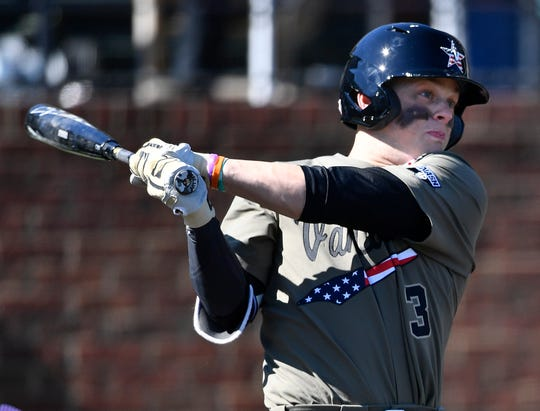 Cooper Davis has excelled in the leadoff spot for the No. 1-ranked Commodores.