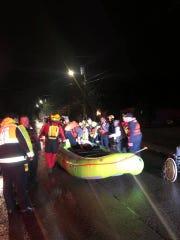 Emergency responders in Sumner County performed more than 60 swift water rescues Saturday, Feb. 23, 2019.
