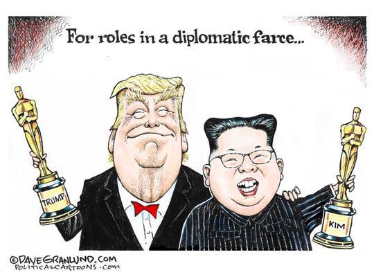 trump-kim farce