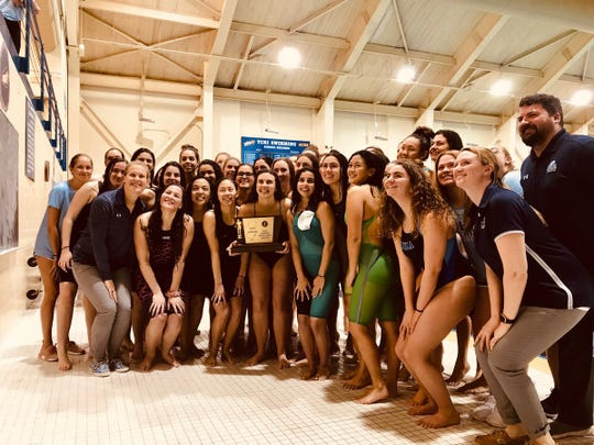 The IHA swim team tied its own state record with a 12th straight state championship on Feb. 24, 2019.