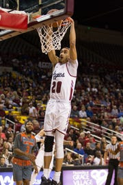 Trevelin Queen and the New Mexico State men's basketball team plays Chicago State in the WAC quarterfinals on Thursday at 1 p.m.