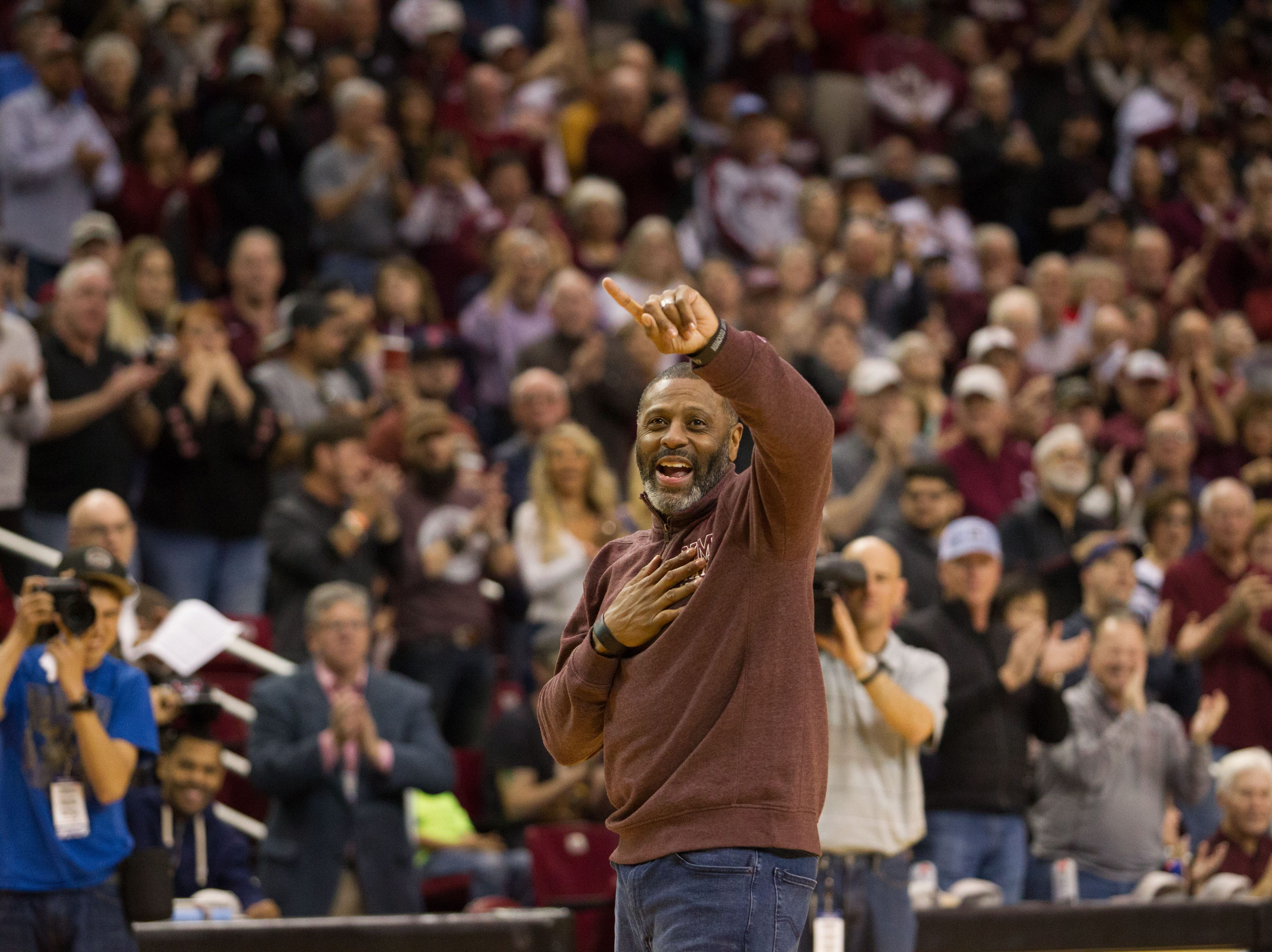 Former NMSU Aggie and NBA player, Randy Brown in town for the game. The NMSU Aggies hosted UT Rio Grande Valley on February 23, 2019.