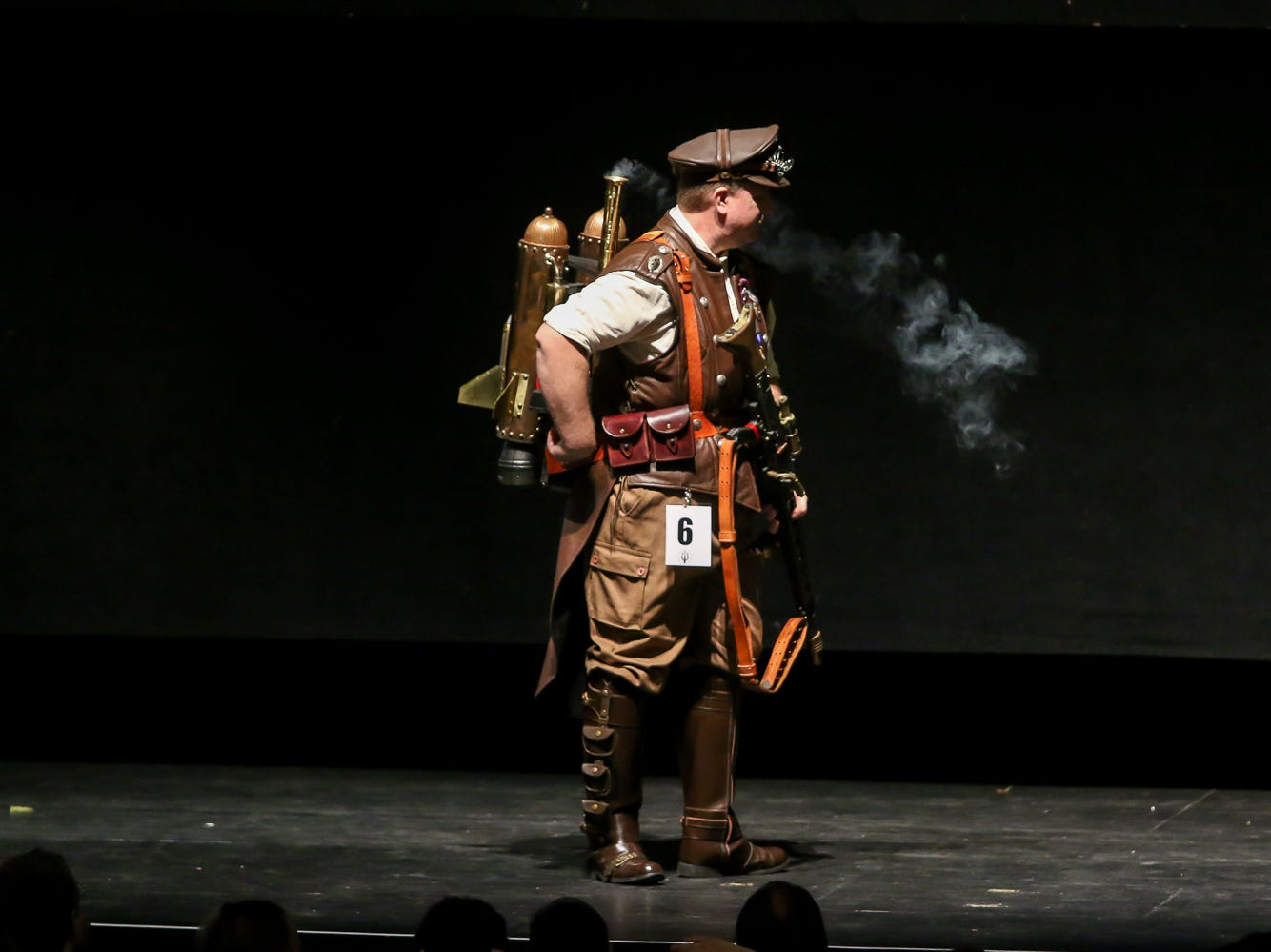 People compete in the Journeyman Division of the Pensacon cosplay contest presented by McGuire's Irish Pub at the Saenger Theatre on Saturday, February 23, 2019.