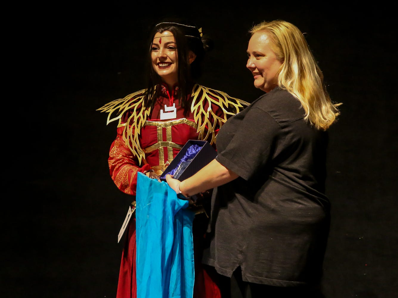 The first place winner in the Master's Division of the Pensacon cosplay contest presented by McGuire's Irish Pub at the Saenger Theatre on Saturday, February 23, 2019.