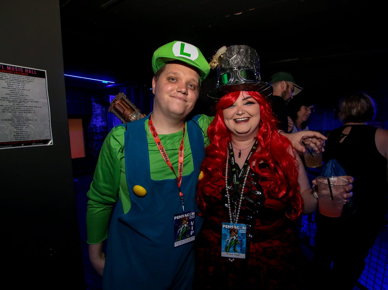 At Vinyl Music Hall for the Pensacon after party, featuring a performance by Cybertronic Spree, on Saturday, February 23, 2019.