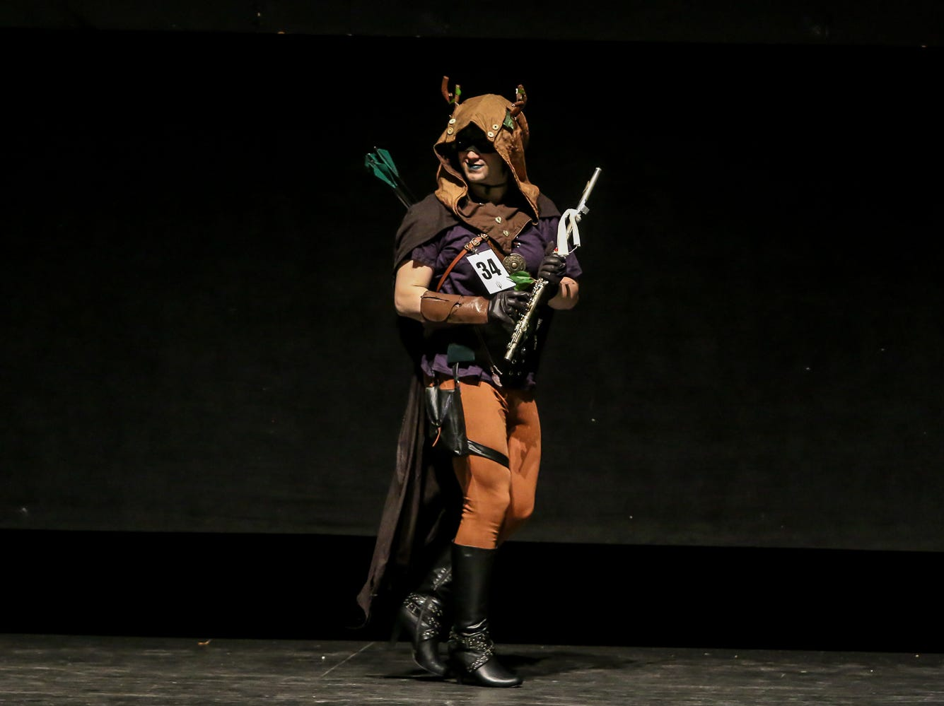 People compete in the Novice Division of the Pensacon cosplay contest presented by McGuire's Irish Pub at the Saenger Theatre on Saturday, February 23, 2019.