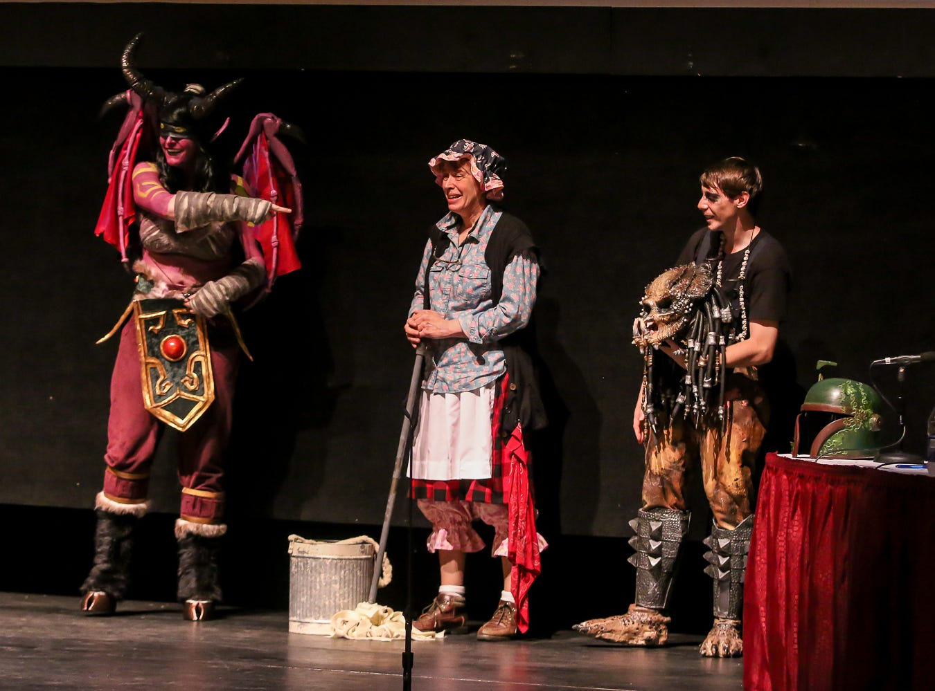 The honorable mention winners in the Novice Division of the Pensacon cosplay contest presented by McGuire's Irish Pub at the Saenger Theatre on Saturday, February 23, 2019.