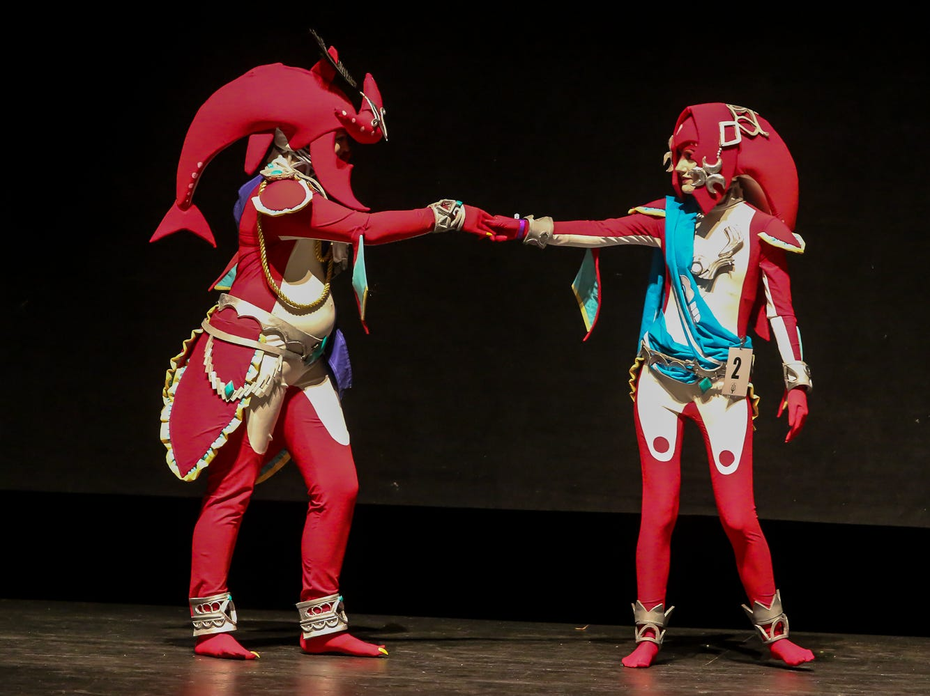 People compete in the Master's Division of the Pensacon cosplay contest presented by McGuire's Irish Pub at the Saenger Theatre on Saturday, February 23, 2019.