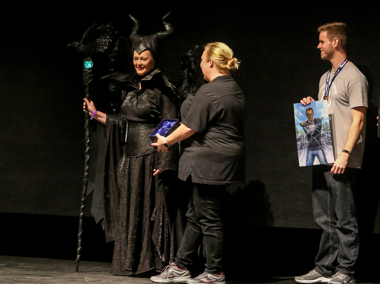The first place winner in the Journeyman Division of the Pensacon cosplay contest presented by McGuire's Irish Pub at the Saenger Theatre on Saturday, February 23, 2019.