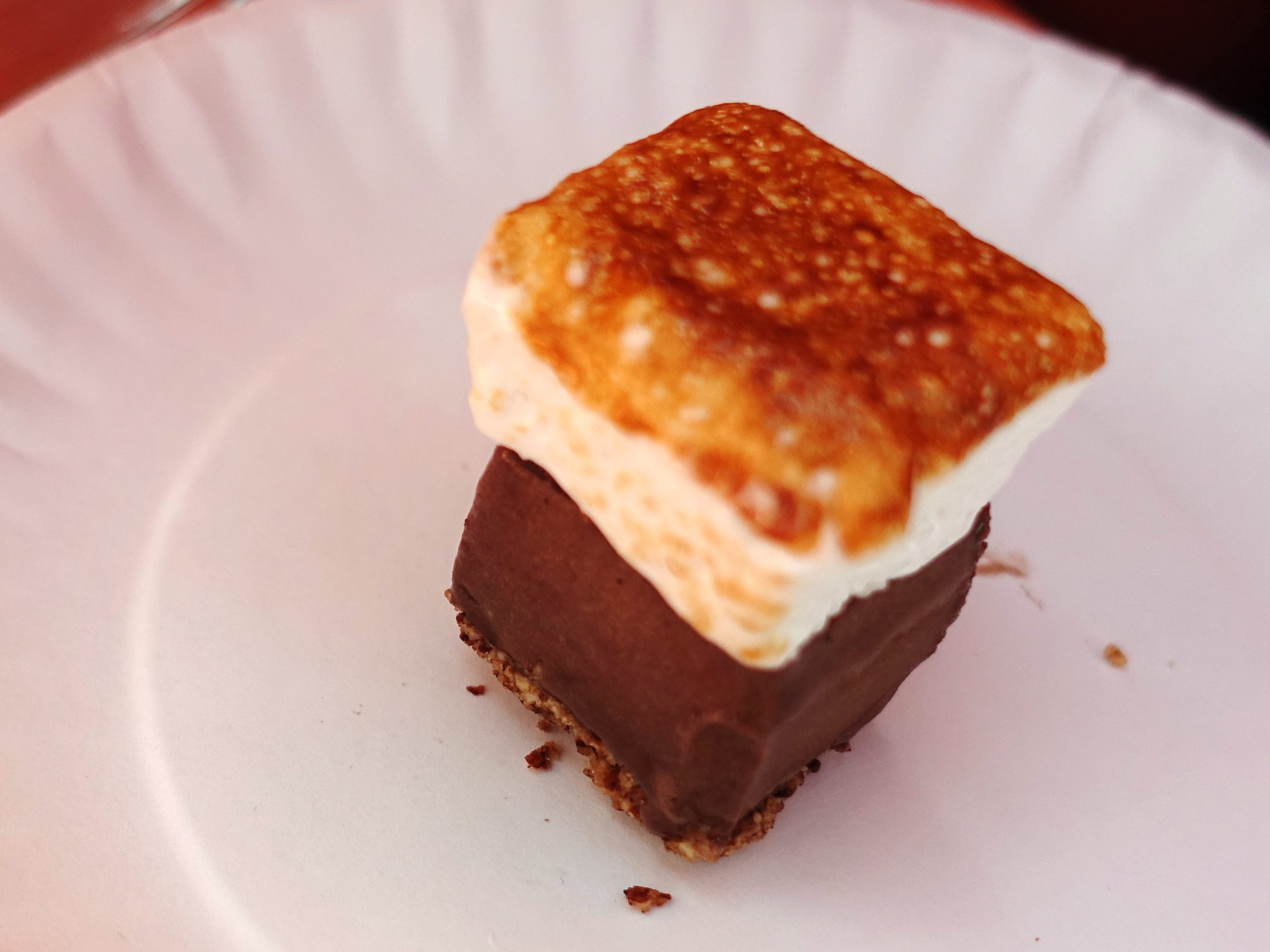 Mini s'more with toasted house marshmallow, dark chocolate ice cream and crushed almond crust from Sweet Republic at the 2019 Devour Culinary Classic at the Desert Botanical Garden in Phoenix.