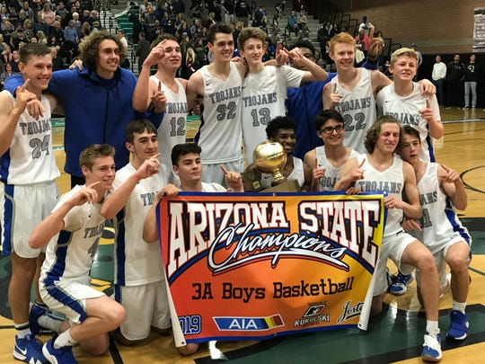 Feb. 23, 2019; Chandler Valley Christian wins 3A boys basketball title