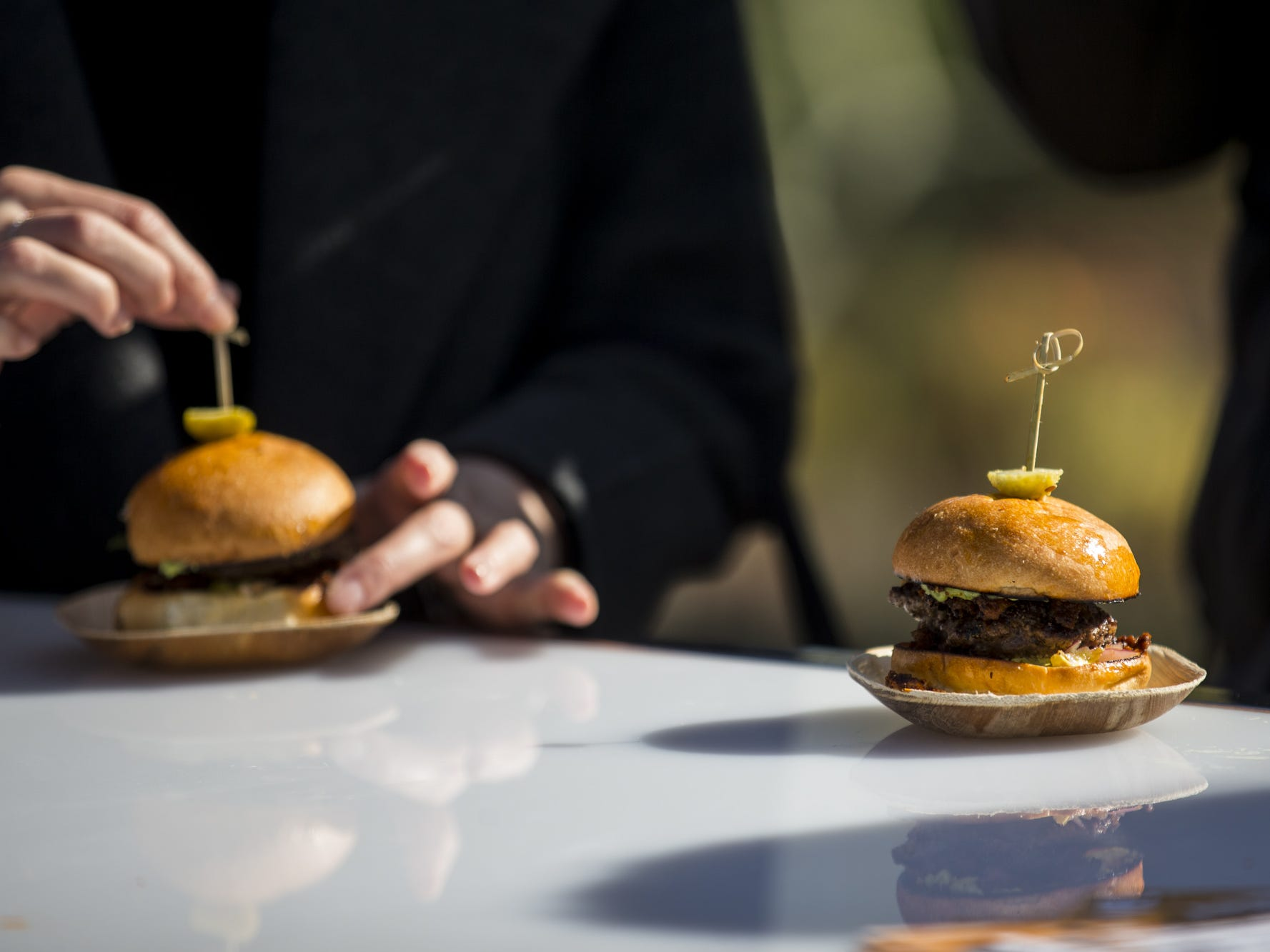 Chorizo and chuck sliders are pictured during Day 1 of the Devour Culinary Classic on Saturday, Feb. 23, 2019, at Desert Botanical Garden in Phoenix.