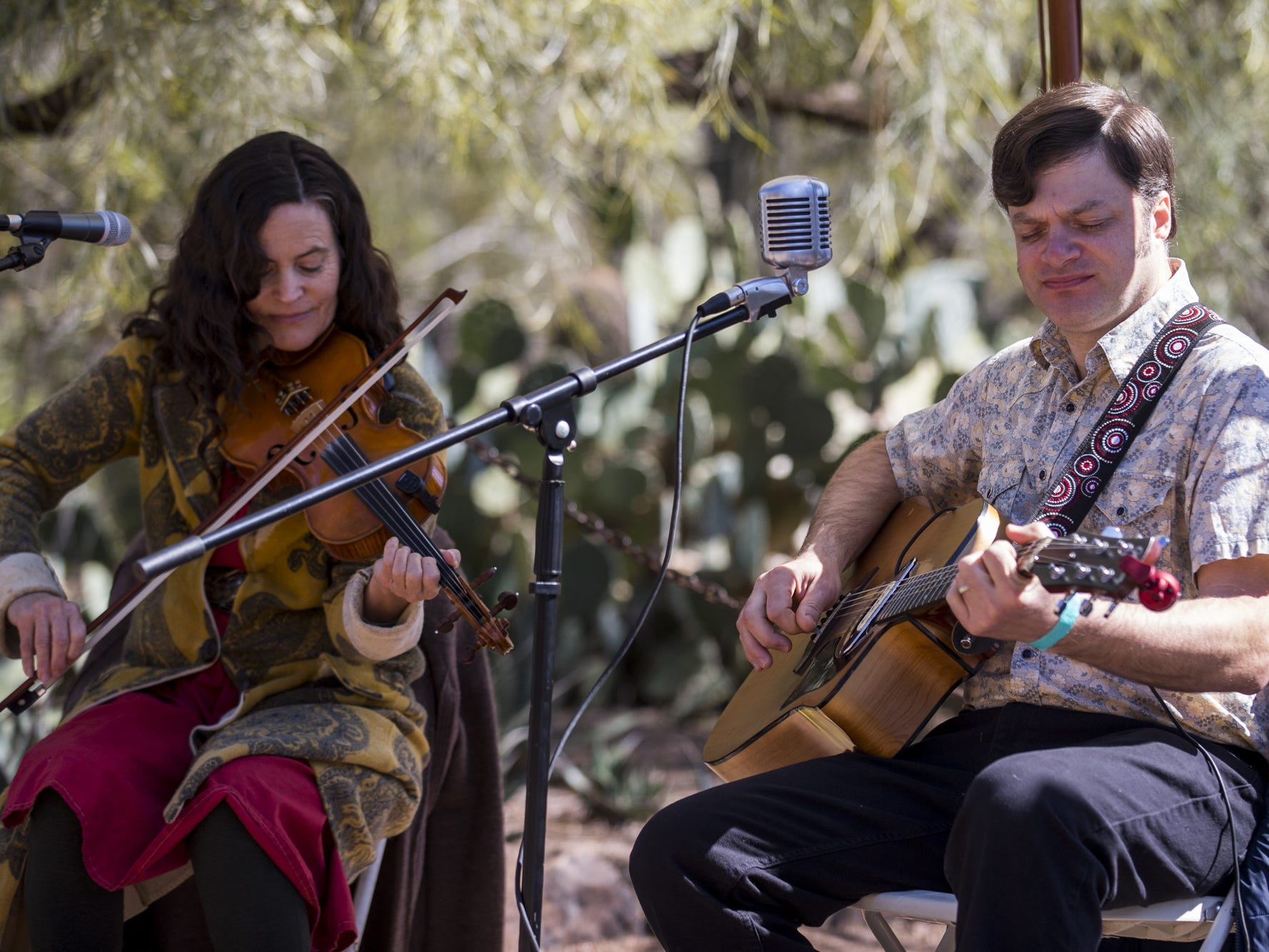 Carolyn Camp Duo perform during Day 1 of the Devour Culinary Classic on Saturday, Feb. 23, 2019, at Desert Botanical Garden in Phoenix.