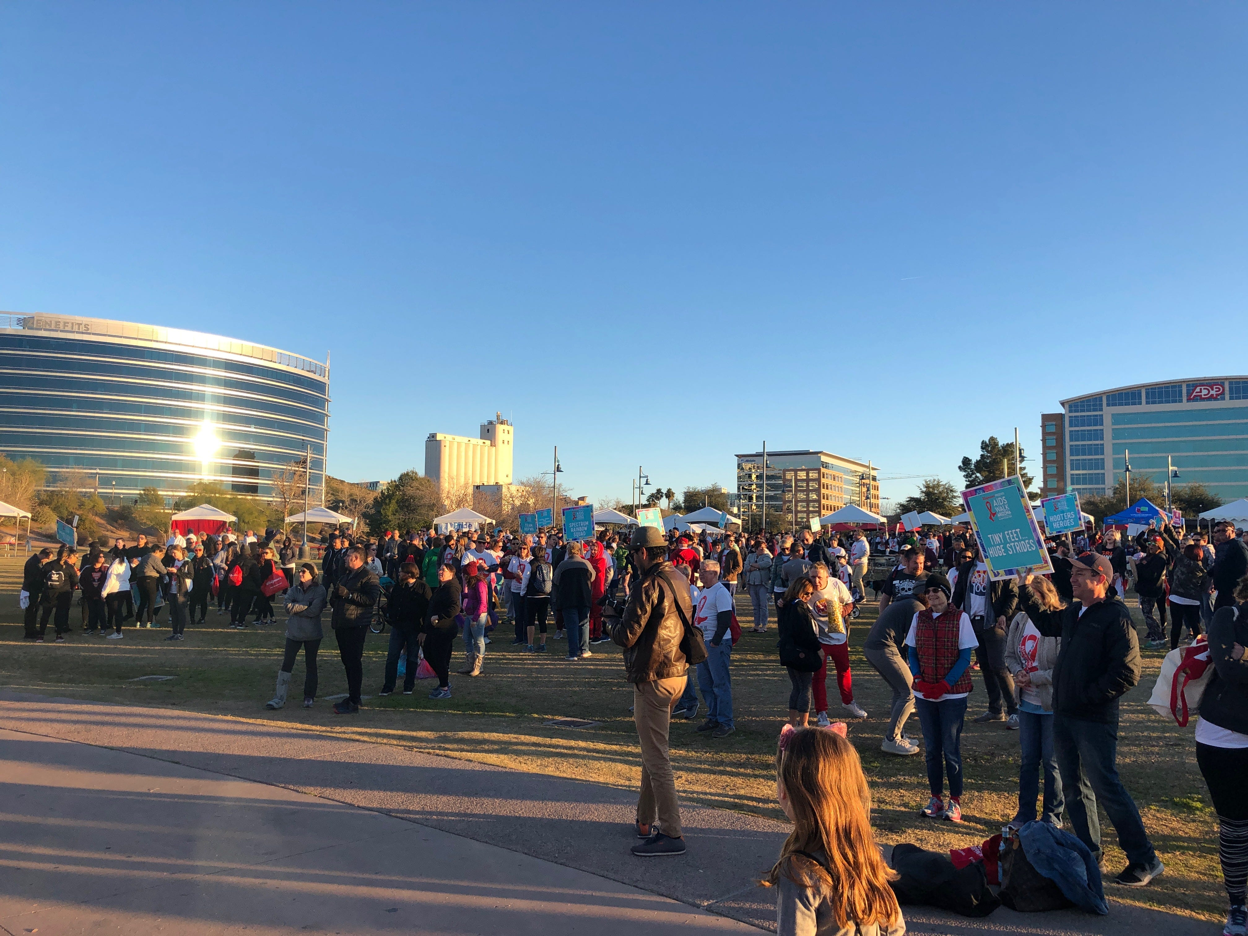 Thousands of people gathered Saturday in Tempe Beach Park to support AIDS Walk Arizona put on by Aunt Rita's Foundation.