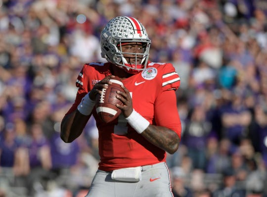 Dwayne Haskins passed for 5,396 yards with 54 touchdowns and had just nine passes intercepted over 20 games for Ohio State.