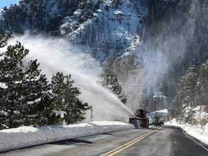 State Route 89A, south of Flagstaff, reopened after a winter storm dumped a significant amount of snow in Arizona's high country.