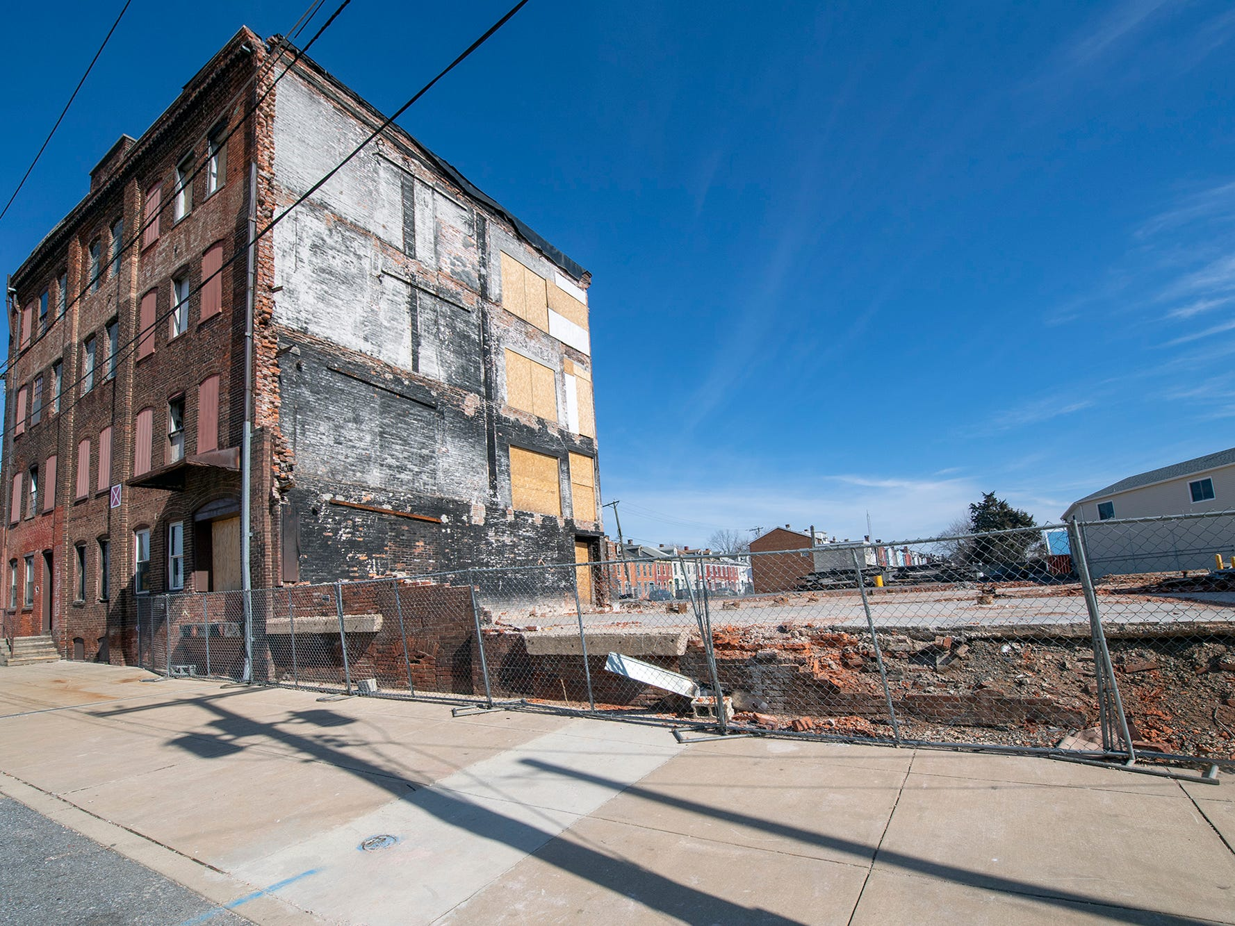 This is looking from Broad Street through a space that was once part the old Weaver Organ & Piano building in York. Fire ripped through the building March 21, 2018 during a snow storm. Firefighters Ivan Flanscha and Zachary Anthony died from injuries sustained in a structure collapse the day after.