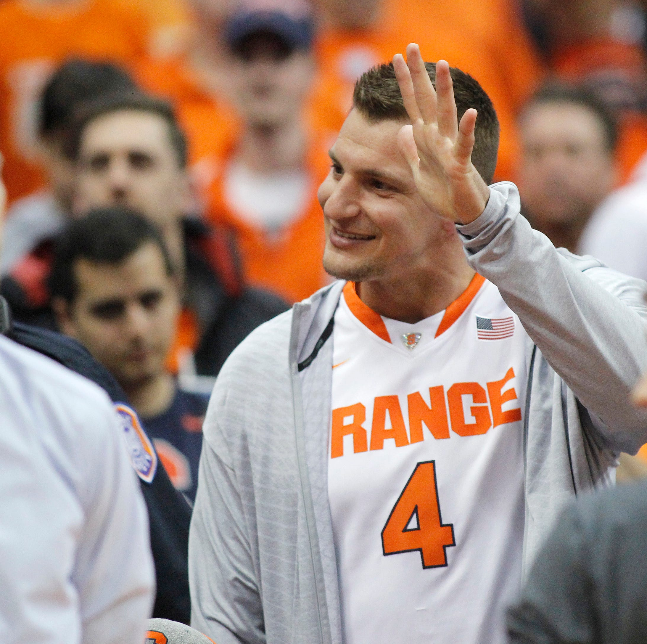 See Patriots tight end Rob Gronkowski in the crowd for Syracuse vs. Duke men's basketball