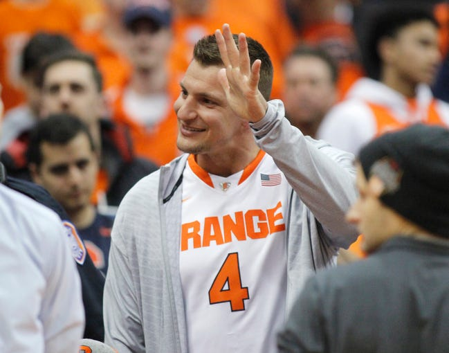 Rob Gronkowski Patriots Player Wears Syracuse Basketball