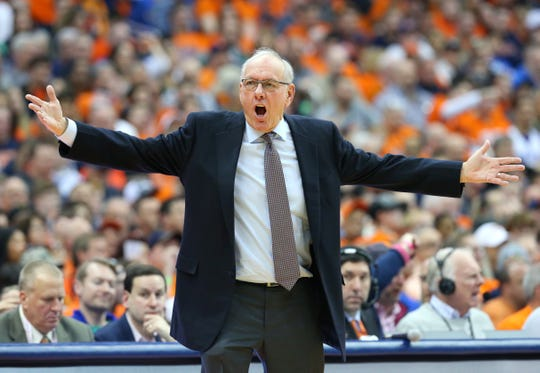 Syracuse coach Jim Boeheim, 74, leads his team into this week's ACC Tournament. His team needs a win to gain some confidence before NCAAs.