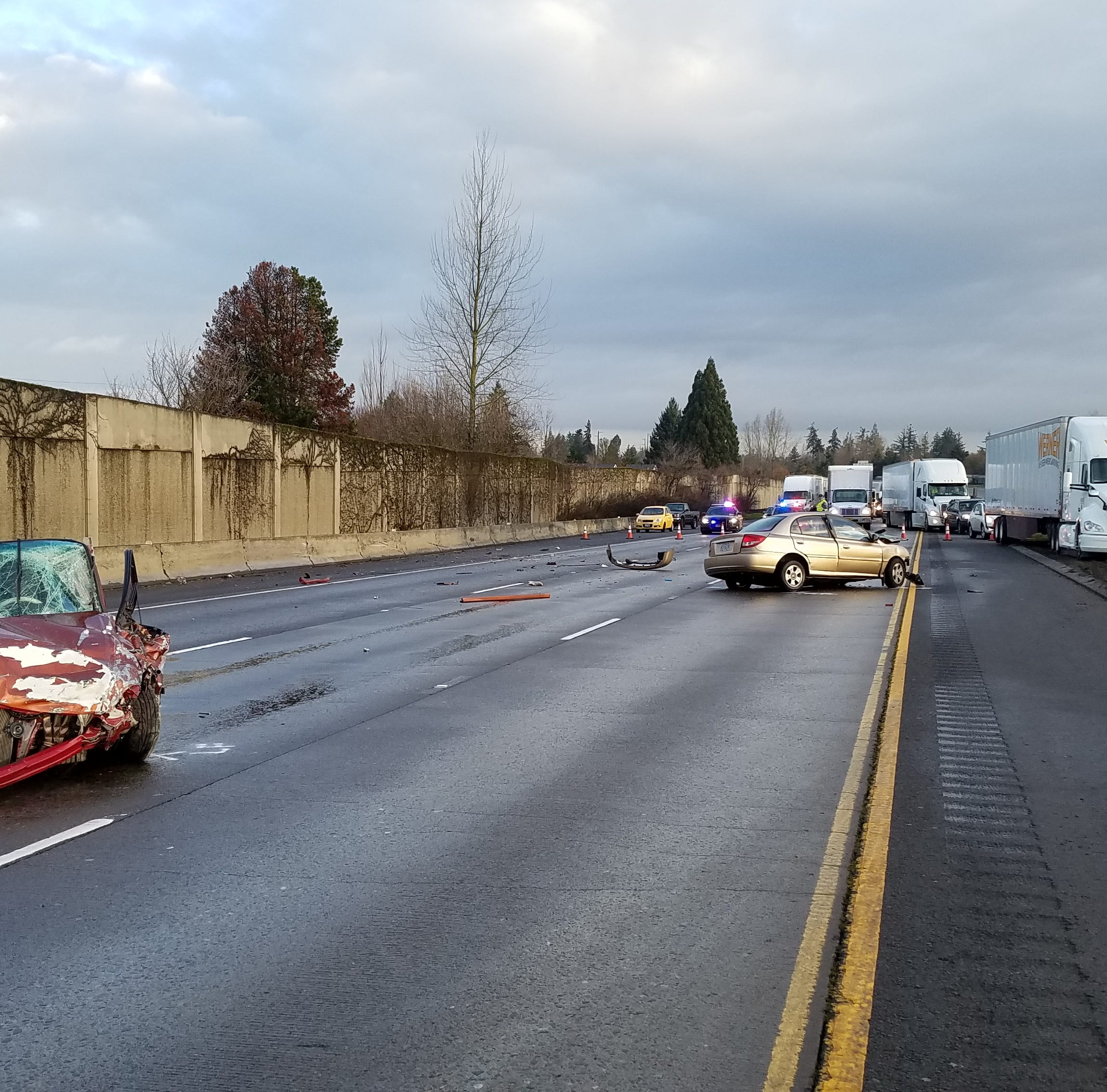 Police officials identify victim in early morning crash on I-5
