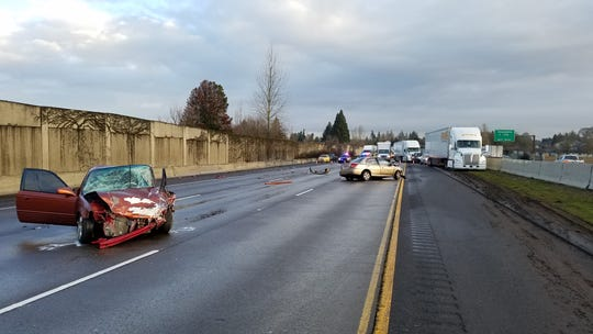 Oregon State Police officials and emergency personnel responded to a fatal crash on Interstate 5 at milepost 257 around 5 a.m. Saturday, Feb. 23.