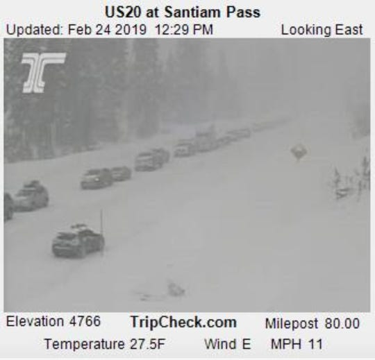 US Highway 20 over Santiam Pass has been closed by an avalanche.