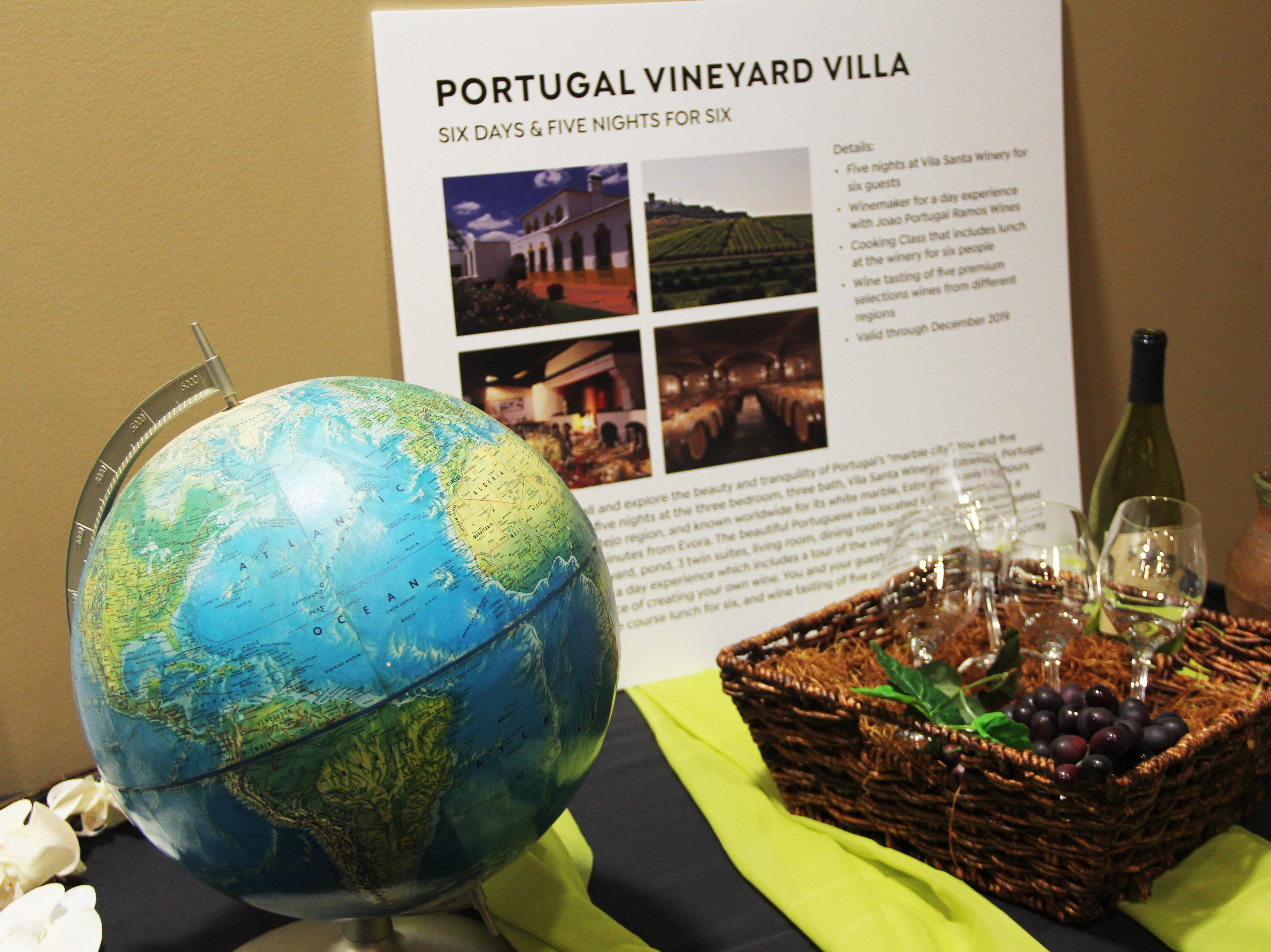 A five night stay for six at Vila Santa winery in Estremoz, Portugal was featured in the live auction at the 20th Annual Clay Ball on Saturday, Feb. 23.