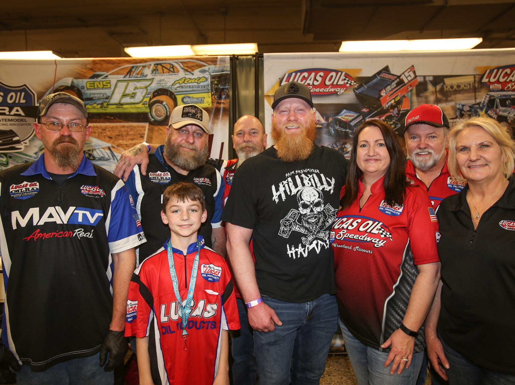 Sam Shewmaker and the Lucas Oil Speedway team