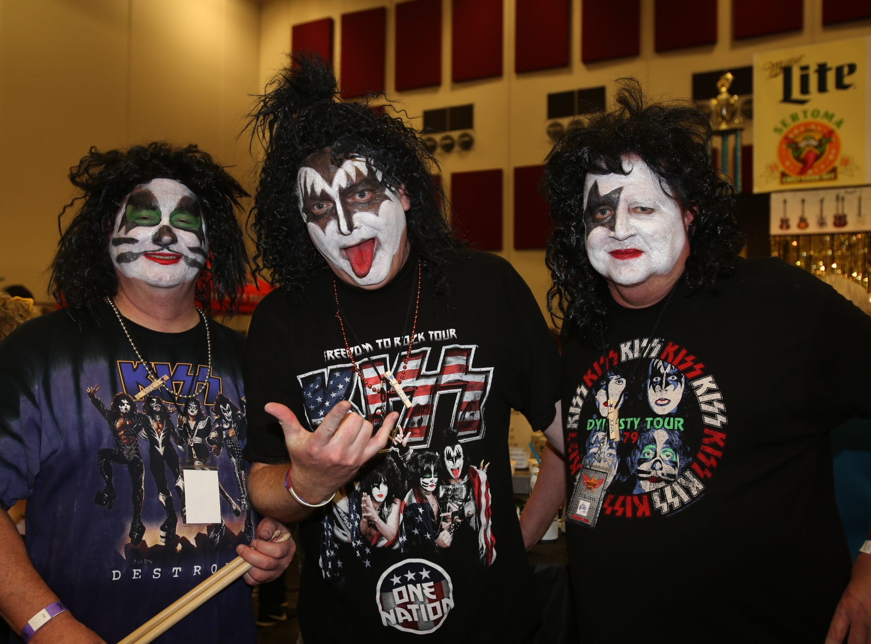These men said they were Peter Criss, Gene Simmons and Paul Stanley, LOL