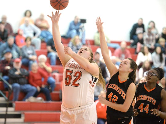 Riverheads' Olivia Modlin had a career-high 12 points in her team's Region 1B championship win Saturday.