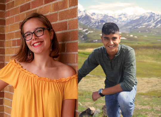 Sartell High School Seniors Megan Mechelke and Yash Hindka are National Merit Scholar finalists, announced Feb. 2019.