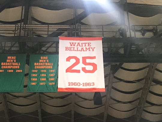 FAMU legendary basketball player Waite Bellamy had his No. 25 jersey retired on Saturday, Feb. 23, 2019 at the Al Lawson Multipurpose Center.