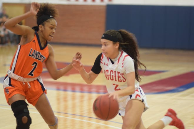 Former Del Valle basketball standout Taylor Acosta has been a standout at Oklahoma Panhandle State this year long with her sister Kaylee Morgan.