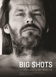 """""""Big Shots: The Photography of Guy Webster"""" features a foreward by Brian Wilson. On the cover is actor Jack Nicholson."""