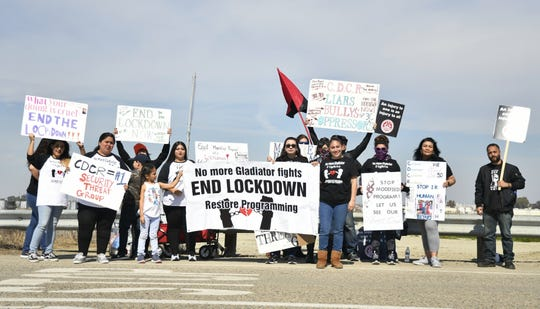 Loved ones of inmates housed at California State Prison-Corcoran have protested for the last three weekends. They want visitation rights restored.