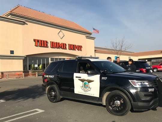 Tulare Police responded to a bomb threat on Saturday in Tulare. The retailer was evacuated for about 2 1/2 hours. No bomb was found.